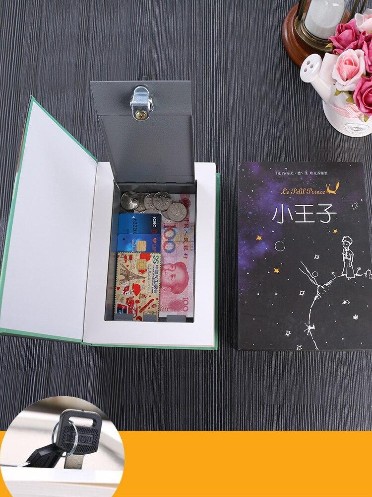 Metal Steel Storage Safe Box Dictionary Secret Book Bank Money Hidden Secret Security Locker Cash Jewellery With Key Lock