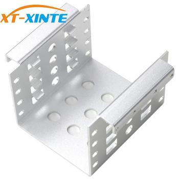 XT-XINTE 4-Bay Aluminum Alloy 3.5 inch to 2.5 inch Hard Drive HDD SSD Converter Adapter Mounting Bracket Caddy Tray
