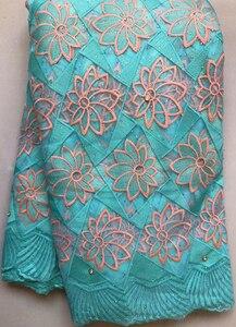 Image 5 - 2020 африканская сетчатая кружевная ткань, Высококачественная элегантная нигерийская Свадебная Кружевная Ткань 5 ярдов, французское Тюлевое кружево с камнями HLL4587 HLL5092