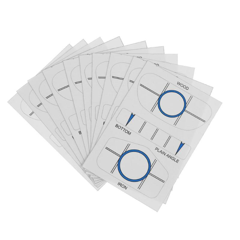 10 Sets Golf Impact Tapes Labels Recorder Kit For Woods Irons And Putter