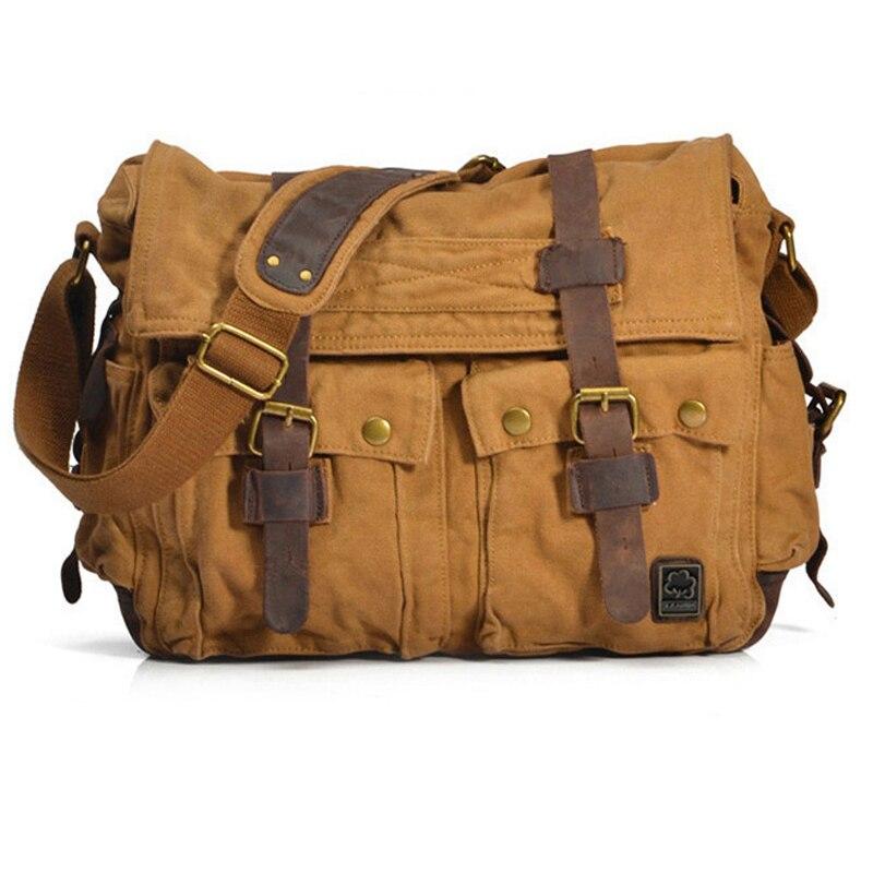 Image 3 - I AM LEGEND Will Smith military canvas   Genuine leather Men  messenger bag canvas shoulder bag men Crossbody Bag Casual Bag 2020bag  exchangebag towelbag england