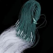 Rede de pesca branca verde clara com armadilha de peixes flutuador 30m x 1.2m malha 1pc pequeno monofilamento peixe gill net 1.2*15 acessório nylo m9m1