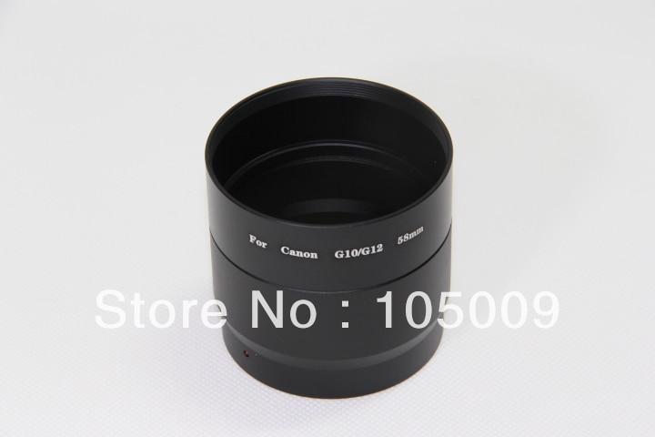 58mm 58 Mm Filter Mount Lens Adapter Tube Ring For Canon G10 G11 G12 Camera