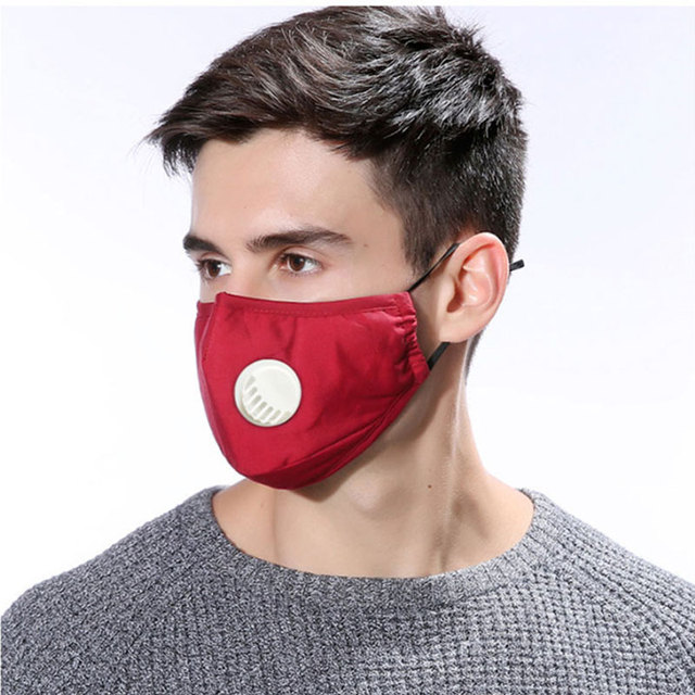 Cotton PM2.5 Black mouth Mask Anti Haze Anti-dust Mask Activated Carbon Filter Respirator bacteria proof Flu Face masks Washable 4