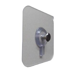 Image 3 - Juego de 4 unidades de ganchos para colgar en la pared del baño, marco decorativo para fotos, ventosa fuerte para pegar en las uñas