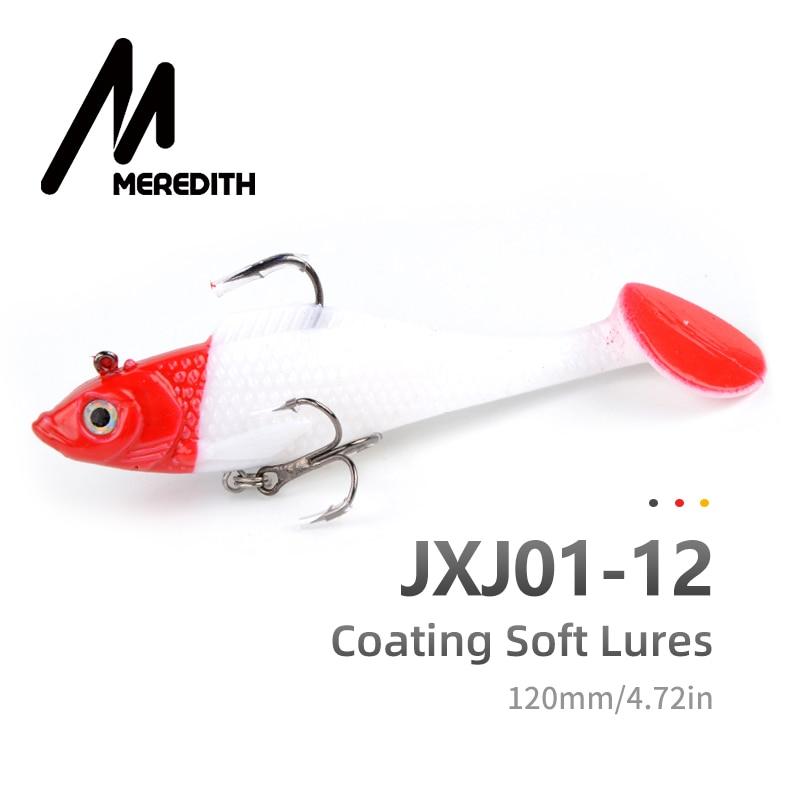 Meredith fishing 3pcs 27g 12cm long tail fishing tackle soft baits Wobblers soft lead fish fishing lures luminous JXJ01-12