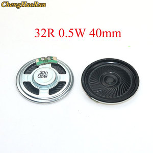 Chenghaoran 1 pces alto-falante ultra-fino 32 ohms 0.5 watt 0.5 w 32r diâmetro do orador 40mm 4cm espessura 5mm