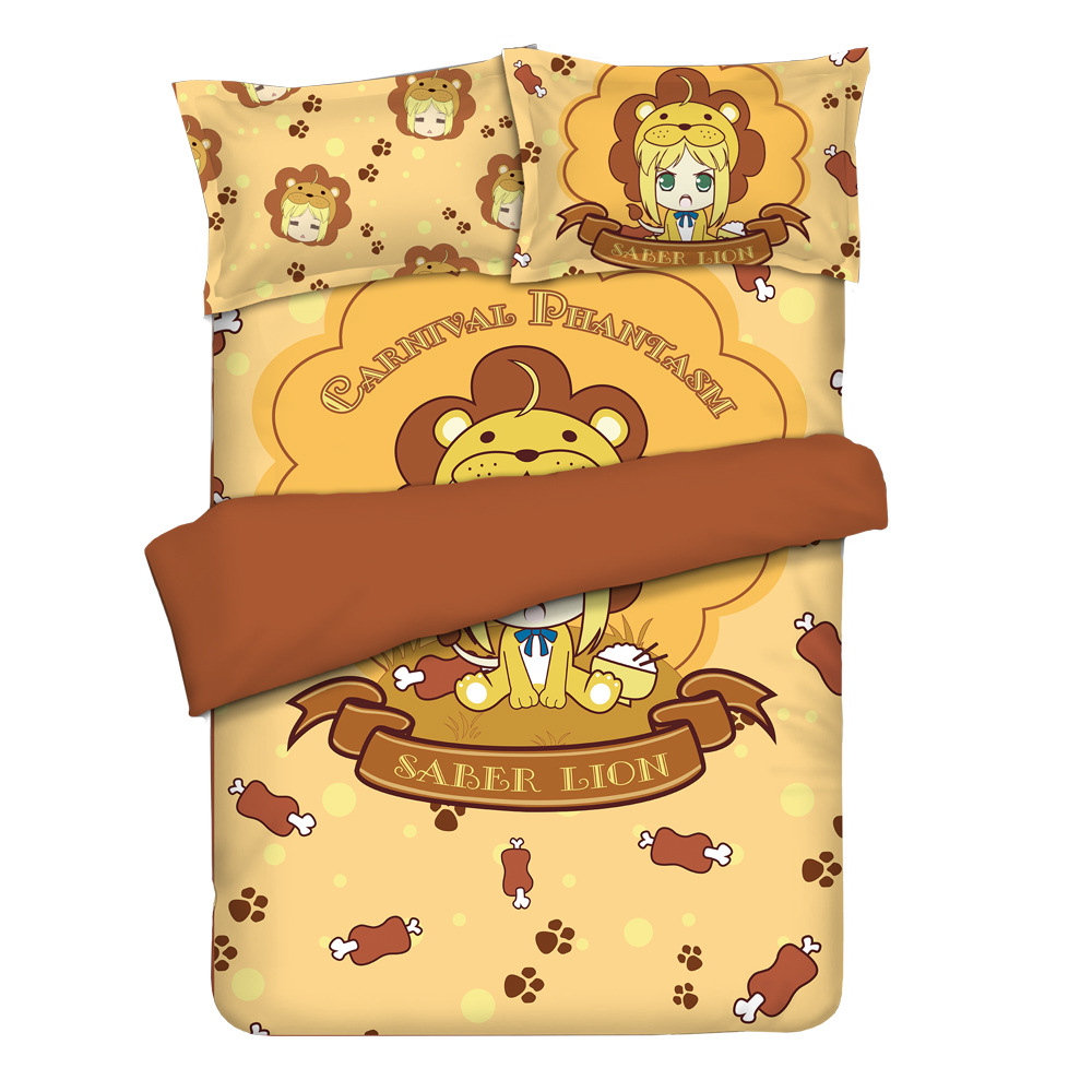 Four-piece Set Mgf Origional Fate Grand Order Lion SABER Anime Sheet Quilt Cover To Map