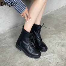 Byqdy/ботинки на резиновой платформе; Женские ботильоны с круглым
