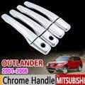 Mitsubishi Outlander Airtrek 2001-2006 krom kulp kılıfı Trim seti 2002 2003 2004 2005 aksesuarları çıkartmalar araba Styling