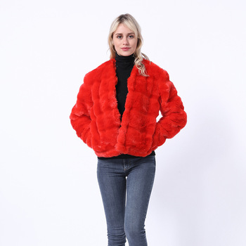 Faux odzież z futrem płaszcz damski 2018 w nowym stylu sztuczne futro z lisa Panel rękaw krótki Haining wdzięku moda Faux odzież z futrem tanie i dobre opinie fhillinuo Phyllis If Zhejiang Bcd1507260