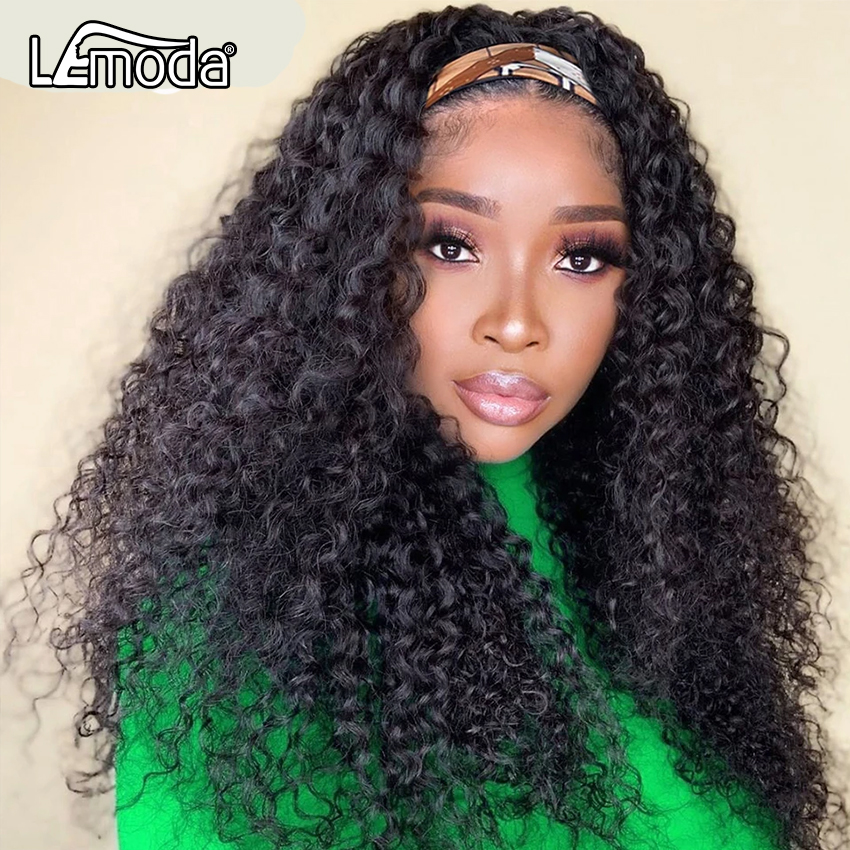 Водная волна парик с головной повязкой парики из натуральных волос на кружевной 30 дюймов вьющиеся синтетические волосы глубокая волна воло...