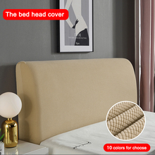 Thicken Elastic All inclusive Bed Head Covers Headboard Cover Polar Fleece for Home Solid Color Long