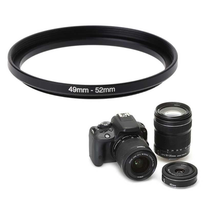 อะแดปเตอร์ตัวกรองกล้อง 49 มม.ถึง 52 มม.แหวนโลหะ Step Up เลนส์กรองกล้องอุปกรณ์เครื่องมือใหม่ Dropshipping