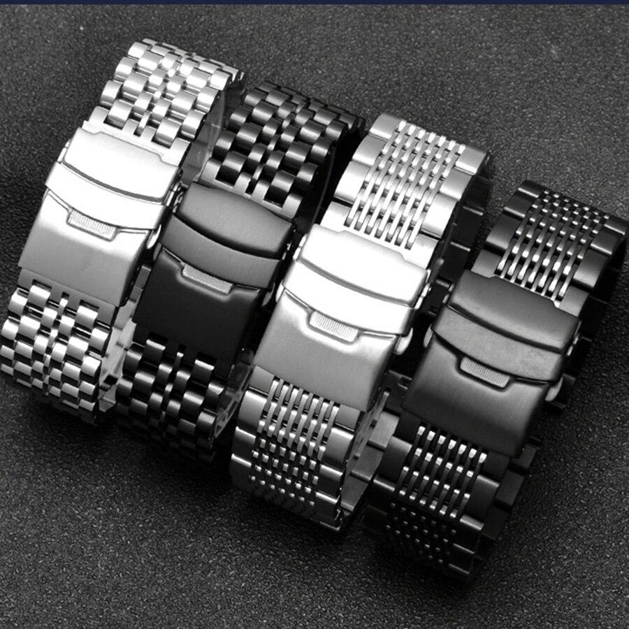 20/22/24mm aço inoxidável pulseira de metal para huawei relógio gt cinta para samsung galaxy assista 46mm s3 fronteira/banda clássica