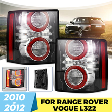 1 Pair LED Rear Tail Light Brake Light Lamp With Bulb for Land Rover Range Rover 2010 2011 2012 Car Styling Replacement