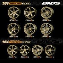 Moyeu de roue de voiture 1/64/caoutchouc, accessoires de Modification de pneus, 10 styles/ensemble, 8 couleurs