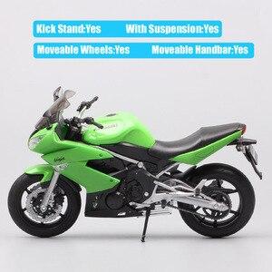 Image 4 - 1/10 wellyスケールカワサキニンジャ650R ER 6f EХ 6オートバイ模型ダイキャスト車スポーツツーリングレースバイクのおもちゃサムネイル子供