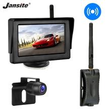 Jansite הפוך מצלמה אלחוטי 4.3 רכב צג מבט אחורי גיבוי מצלמה ראיית לילה עבור RV איסוף מיניוואן חניה סיוע
