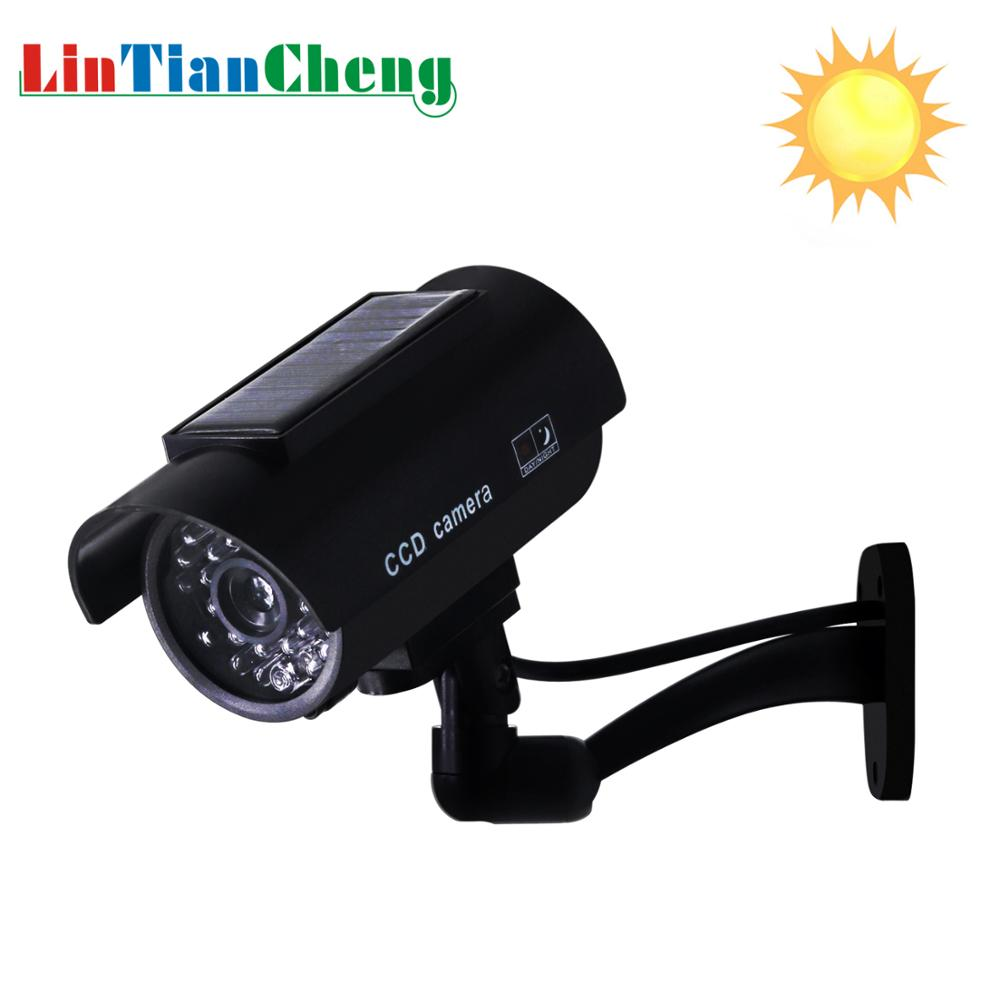 Dummy Fake Camera Solar Bullet Waterproof Outdoor Indoor Security CCTV Surveillance Camera With Flashing Red LED Free Shipping