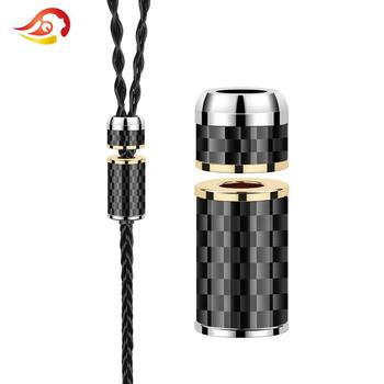 QYFANG 6.0mm to 5.0mm Bright Shell Y Splitter Slider Carbon Fiber Audio Jack Adapter Earphone DIY Upgrade Headset Wire Connector image
