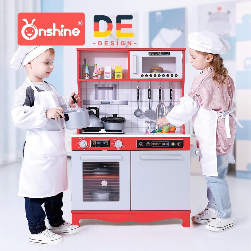Large Children's Kitchen Set Cooking Girls Simulation Kitchen Utensils Children Play Toys Wooden Birthday Gifts Pretend Play