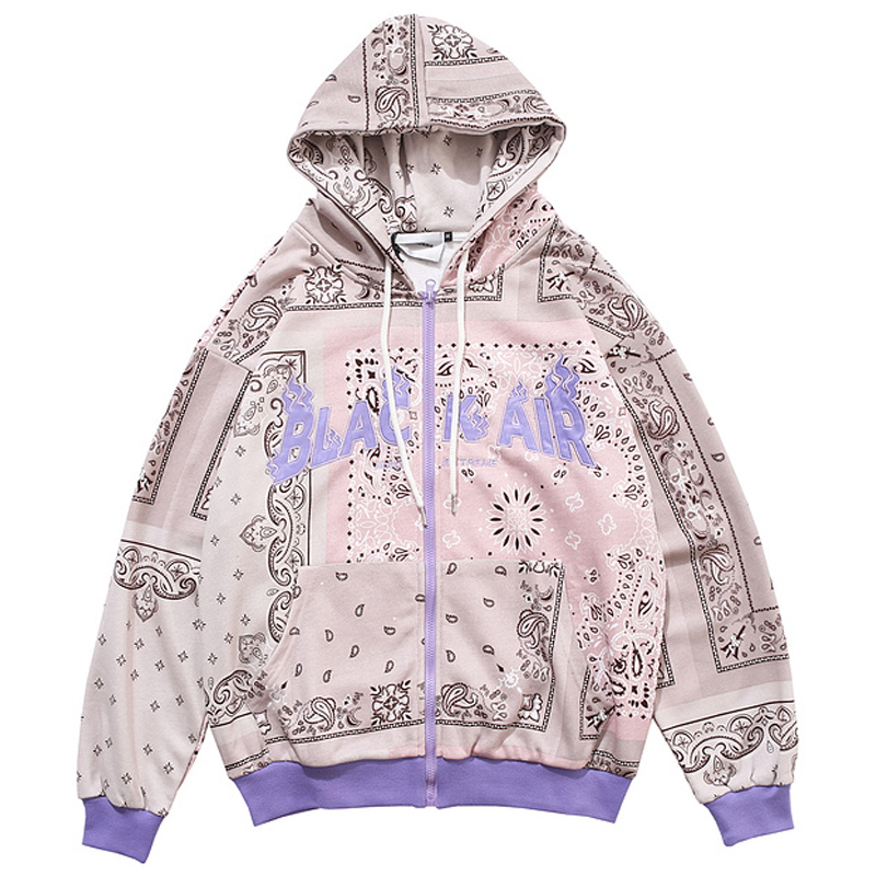 HipHop Letter Embroidery Hoodie Sweatshirt Harajuku Hooded Sweatshirts Mens 2020Autumn Oversize 100%Cotton Cardigan Hoodies Tops