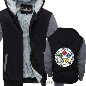 Image 1 - Neue IJF Internationalen Judo Federation Logo Männer der winter hoodie dicken pullover winter Gerade jacke sbz4597