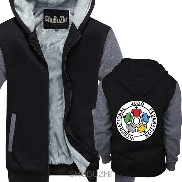 Neue IJF Internationalen Judo Federation Logo Männer der winter hoodie dicken pullover winter Gerade jacke sbz4597