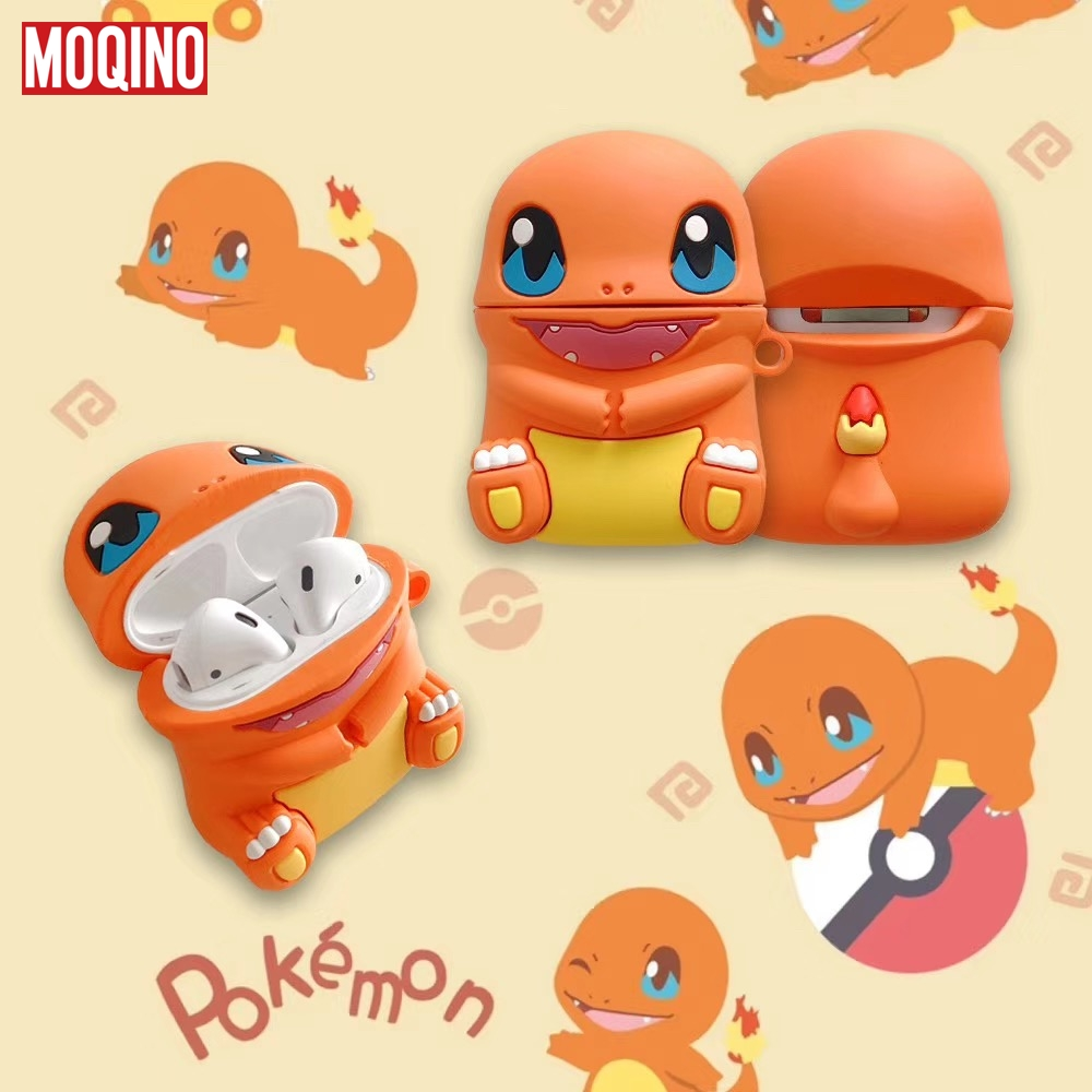 Pokemons Charizard For Airpods Air Pods Silicone Case Protective Cover Pouch Anti Lost Protector Fundas Accessories