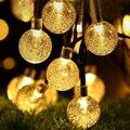 Neue 50 LEDS 7M Kristall Ball Solar Lampe Power LED String Fairy Lichter Solar Girlanden Garten Weihnachten Decor Für im freien Lichter-in Solarlampen aus Licht & Beleuchtung bei