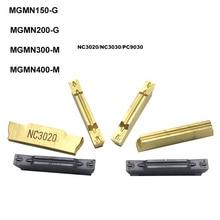 10pcs MGMN200 G MGMN 200 2mm קרביד מוסיף CNC grooving מוסיף 2mm חריץ סכין להב כלי