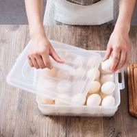 Dupla camada empilhável 40 grade de plástico transparente ovo recipiente de armazenamento caixa organizador claro recipientes de armazenamento