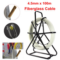 4.5mm*100m Fiberglass Wire Cable Fish Tape Running Rod Duct Puller Electric Reel for Floor Conduit and Telecom Wall
