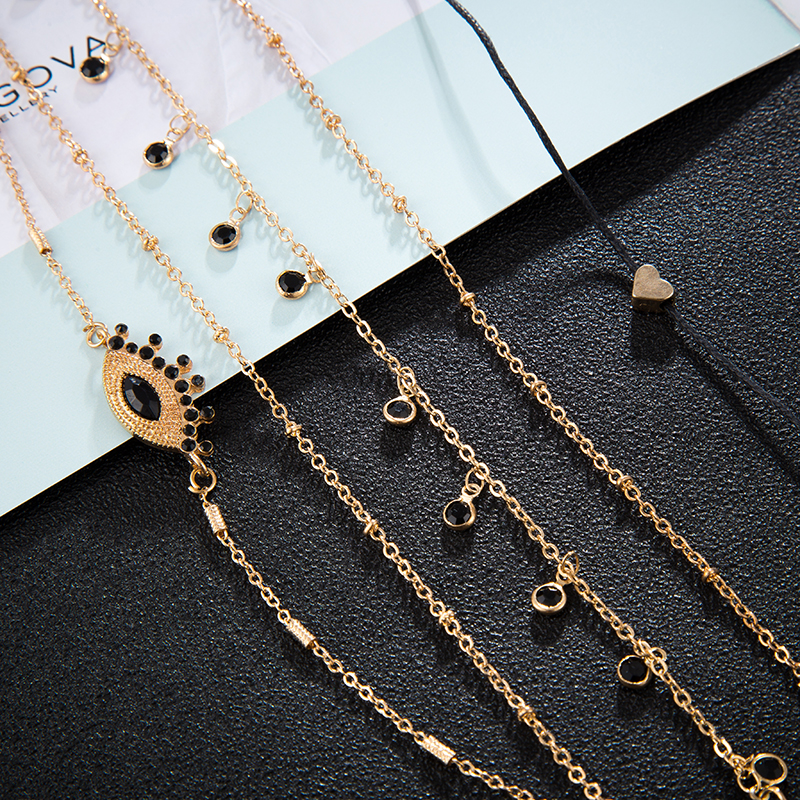 Five piece New Feshion  Small Tassel Bracelet Anklet Dual-use Suit Hot Bracelet Bangles Creative Women Jewelry 3