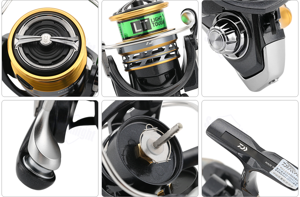 1000D-6000D Spinning Fishing Reel Low Gear Metail Spool Tackle