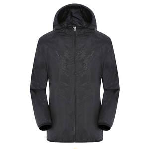Coat Windbreaker Thin-Jackets Big-Size Summer Outerwear Hooded Spring Men'-S Fashion