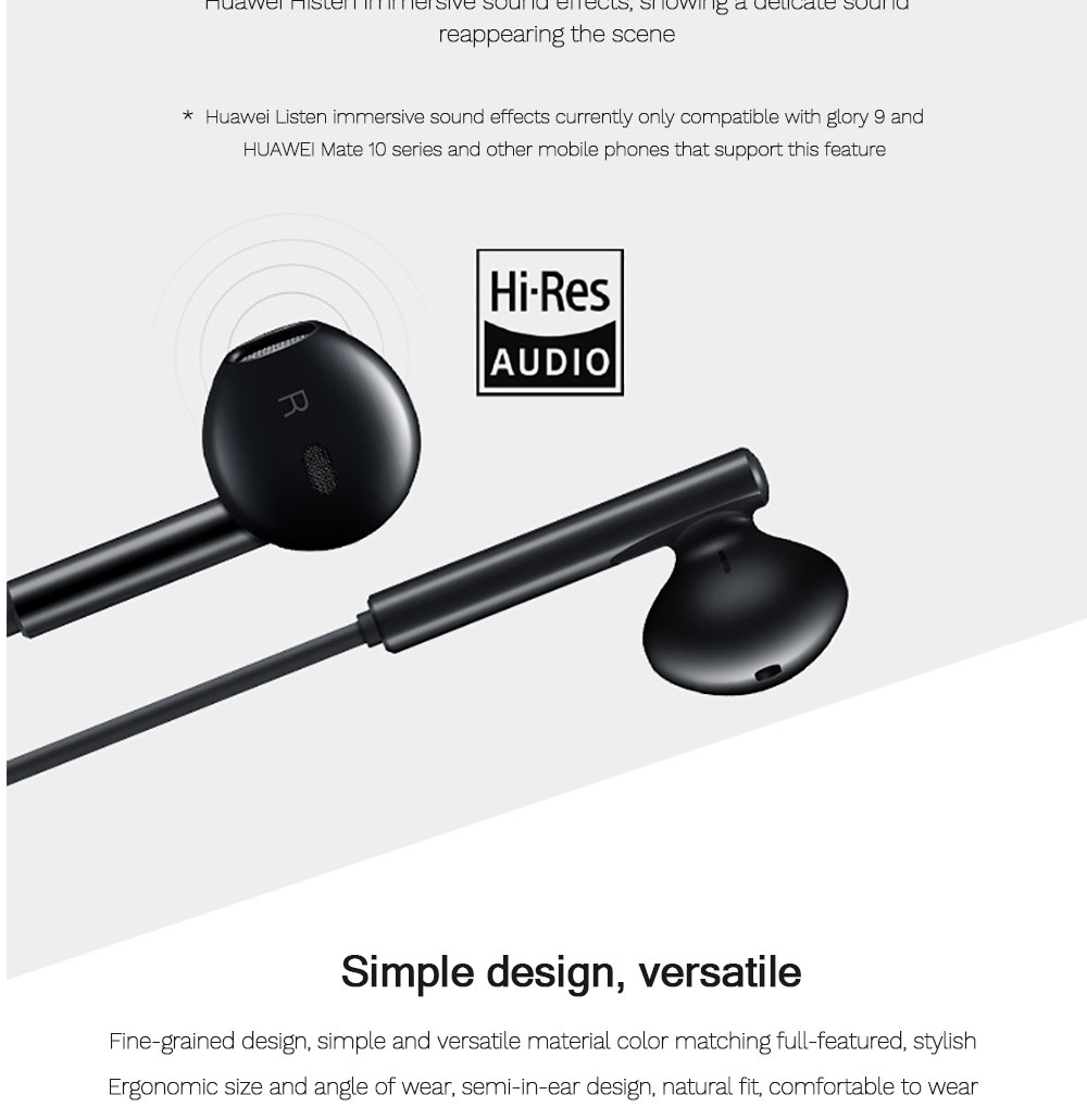 Original HUAWEI CM33 Earphone USB Type-C In Ear Hearphone Headset Mic Volume HUAWEI Mate 10 20 30 Pro 20 X RS P10 20 30 Note 10