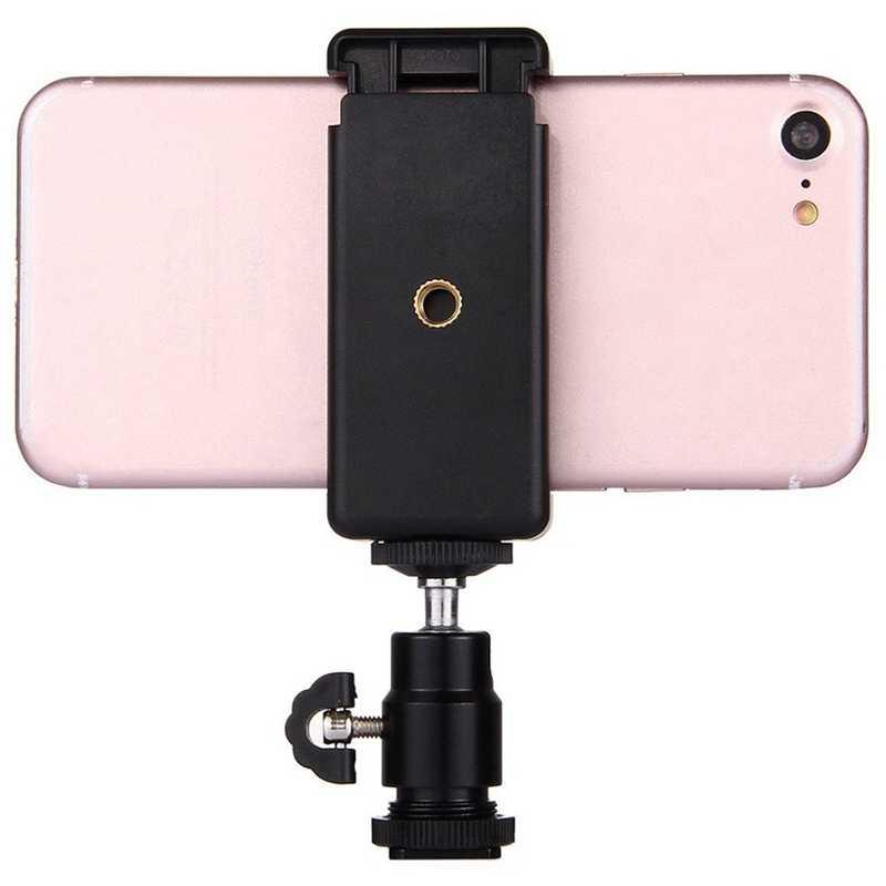 2 In 1 Ponsel Klip Pemegang 360 Kepala Bola Panas Sepatu Adaptor Mount Cocok untuk DSLR SLR Kamera