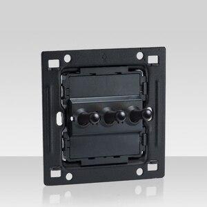 Image 4 - رافعة سوداء 3 Gang ريترو 86 نوع تبديل التبديل 2 طريقة واحدة مزدوجة التحكم الجدار ضوء شخصية التبديل 10A22V الأبيض