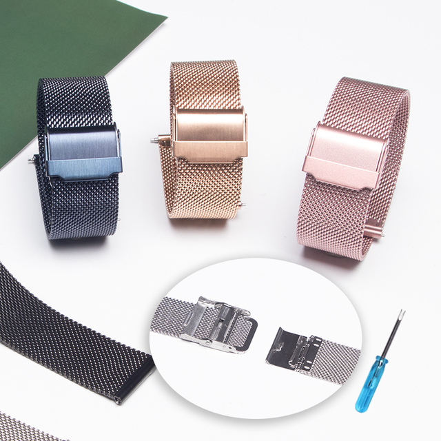 20mm 22mm metal Band for Samsung Galaxy watch 3/46mm/42mm/active 2/Gear S3 bracelet Huawei watch GT 2 2e Pro strap 4