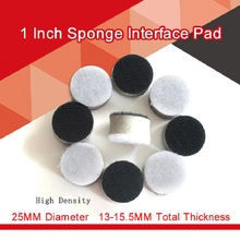 1 Inch 25MM Sponge Interface Pad Buffering Pad for Sander Backing Pad Polishing Grinding Power Tool Accessories - Hook and Loop