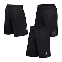 Pantalones cortos de bolsillo para correr para hombre, pantalón de chándal de fútbol, holgado, de secado rápido, con cintura elástica reflectante, para entrenamiento y playa