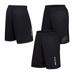 Running Pocket Shorts Quick Dry Men Fitness Loose Soccer Sweatpant Reflective Short Elastic Waist Workout Beach Shorts