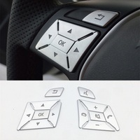 Scratch resistant ABS plating steering wheel button stickers For Mercedes Benz a b c e gla glk g class ml gle interior modified