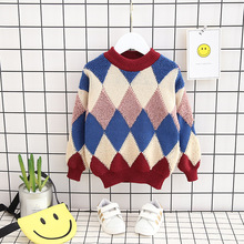 Autumn Winter Boys Sweaters Toddler Long Sleeve Baby Clothing Tops Casual Striped Warm Kids Clothes For Children Costume children autumn and winter warm clothes boys and girls thick cashmere sweaters