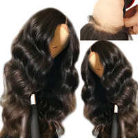 Transparent Full Lace Wigs Glueless Pre Plucked Natural Hairline With Baby Hair Body Wave Brazilian Remy Hair Eseewigs