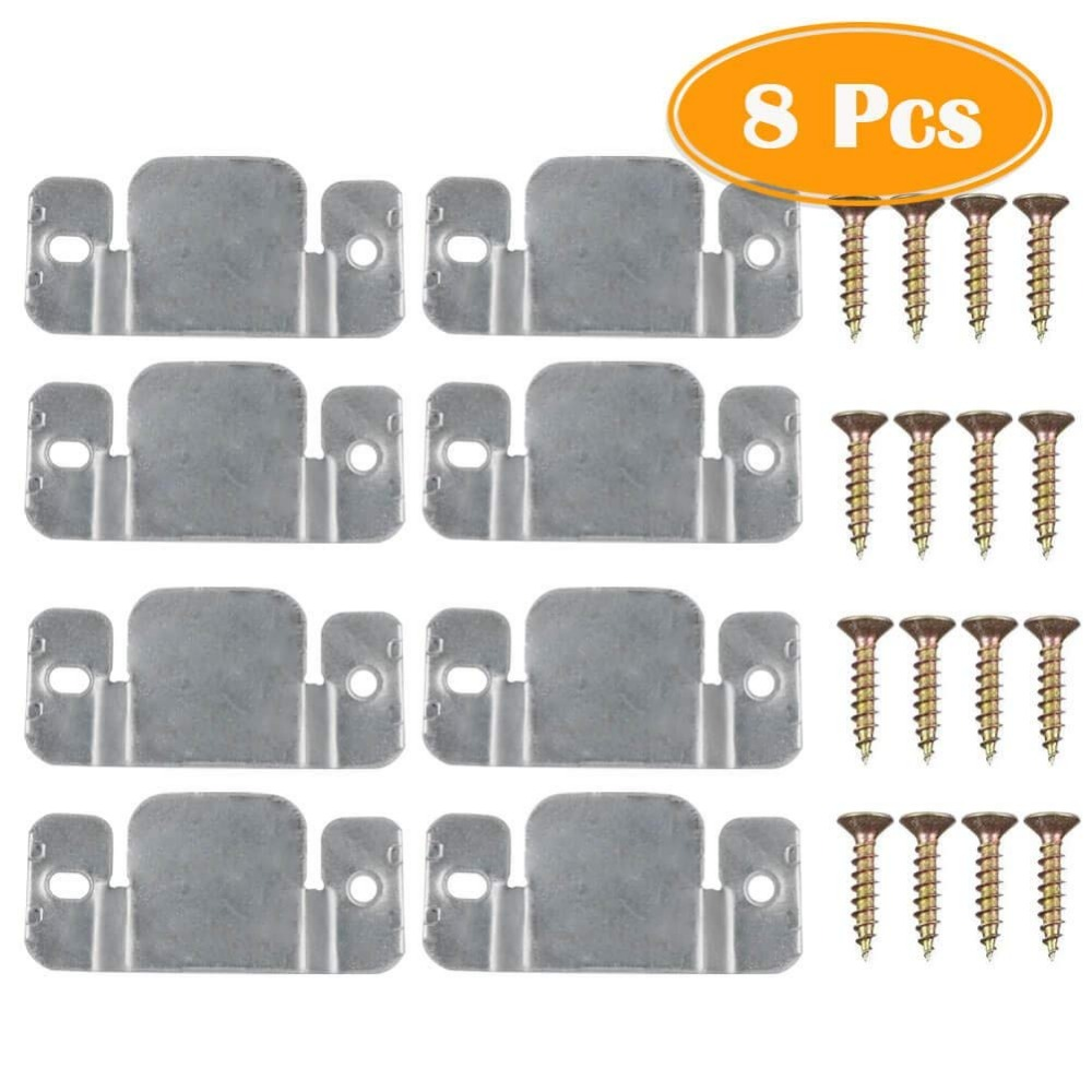 8Pcs With Screws, Sectional Sofa Interlock, Sofa Disassembly Connection Iron Sheet