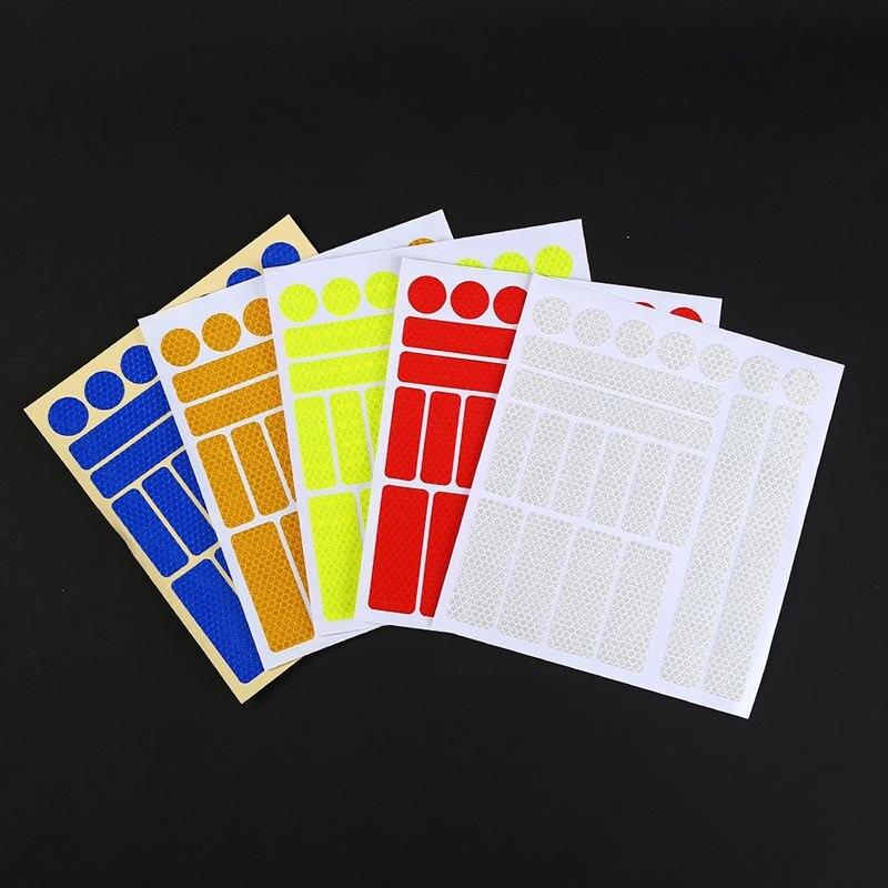 Warning Tape Bicycle Reflective Stickers Bike Wheel Sticker Safety Strips