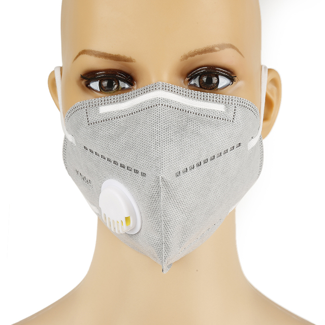 10 pcs Gray Kn95 Masks with valve Real CE Reusable Dust Respirator Masks Protective Face Masks 5Layers Valve Kn95 Mascarillas 2